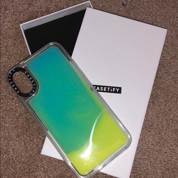 quality design a7e3a ea11e Casetify Neon Sand Liquid Iphone X case
